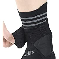 NBD Fitness Ankle Support Brace, Breathable Neoprene Sleeve, Adjustable Wrap! Ankle Stabilizer with Compression Wrap…
