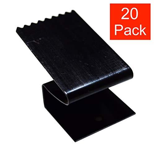 Hurricane Window Clips ½ inch Black Carbon Steel