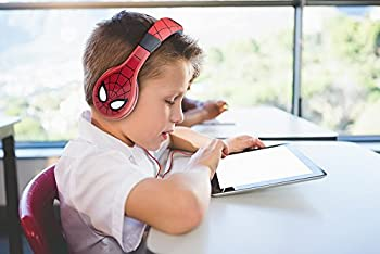 Spiderman Headphones For Kids With Built In Volume Limiting Feature For Kid Friendly Safe Listening 3