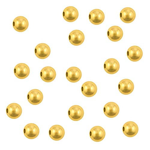 Gold Plated Round Beads, Crimp Beads, Split Rings, Gold Plated Findings, Beautiful Bright Gold Color, Lead, Nickle and Cadmium Free (3mm Round Gold Plated Beads Pack of - Bead Plated Gold Crimp