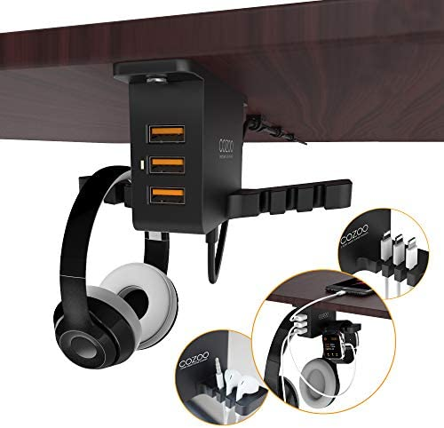 COZOO Headphone Stand with USB Charger 19