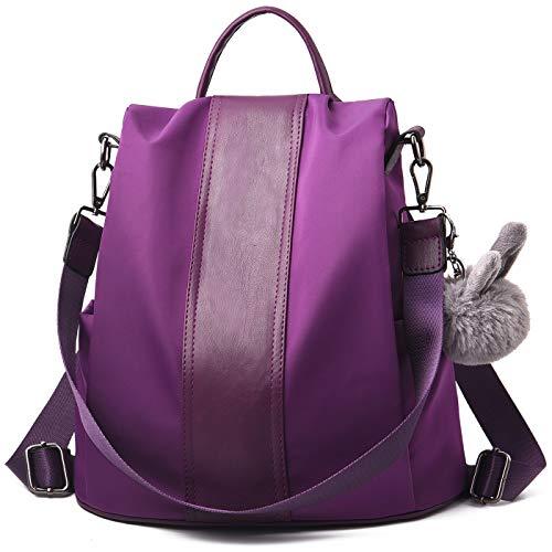 - Charmore Women Backpack Purse Waterproof Nylon Schoolbags Anti-theft Rucksack Shoulder Bags