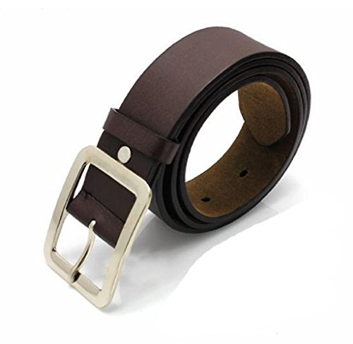 Rukiwa Men's Casual Clasic Stylish Faux Leather Belt Buckle Waist Strap Belts - Buckle Casual Square