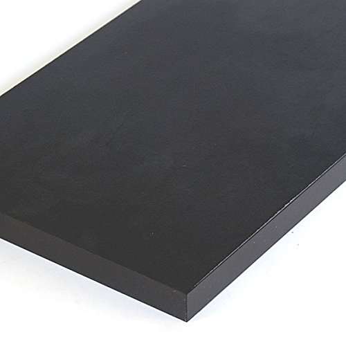New Retails Black Melamine Shelf Measures 3/4''-thick 8'' x 48'' by Melamine Shelf
