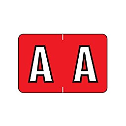 Label, Letter A, Red, Polylaminated (500/Roll)