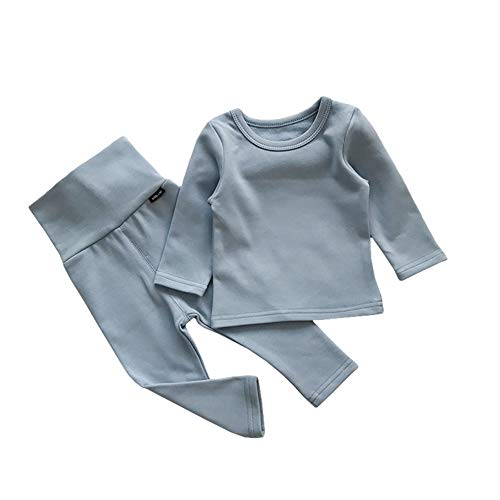 - Unisex Baby Fleece Lined Thermal Underwear Long John Set for Kids Long Underwear Set Top and Bottom
