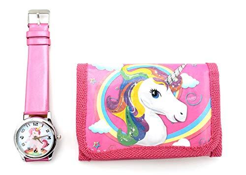 Unicorn Wallet and Watch Gift Set Purse Pocket Bag for girls, kids (Fuchsia1) from Unicorn