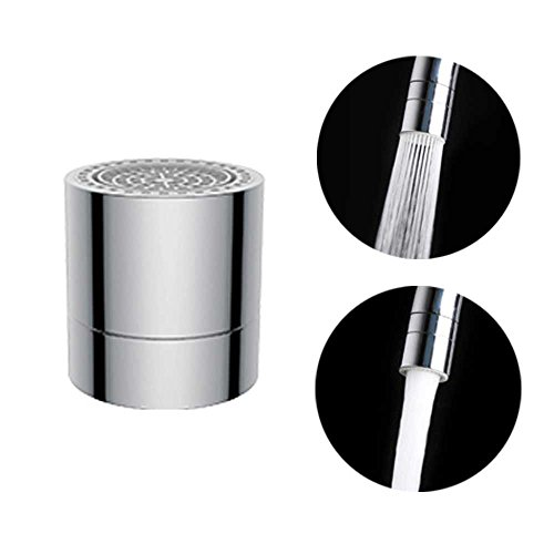 Waternymph Hibbent Dual-function 2-Flow Faucet Aerator - Low Flow Water Aerator, Simplified Design Faucet Replacement Part - 55/64 Inch-27UNS Female Thread - Chrome