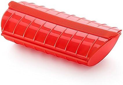 Lékué - Estuche de vapor, 1-2 personas, color rojo