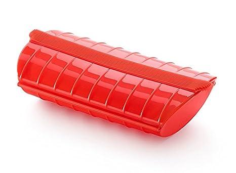 Lekue - Estuche de vapor, Sin bandeja, Rojo, 1 - 2 personas (650 ml)