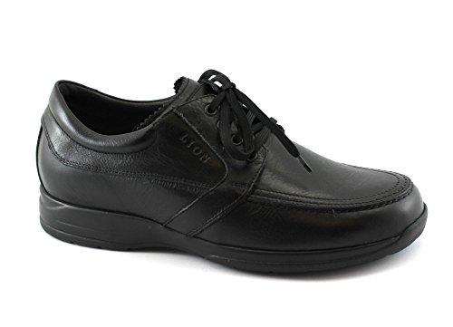 Lion 8457 Nero Scarpe Sneakers Uomo Confort antistatiche Pelle Lacci Nero