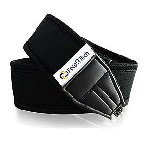 FotoTech shoulder/grip Neck Strap Belt for Canon Nikon Sony Panasonic Fujifilm Olympus Pentax Sigma DSLR/SLR/EVIL Camera with FotoTech Velvet Bag by FotoTech