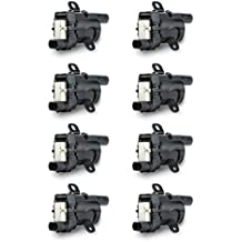 Ignition Coil Pack Set of 8 - Fits V8 Chevy Silverado 1500, 2500, Tahoe, Suburban GMC Sierra, Savana, Yukon, XL 1500, 2500 & more - Replaces# 12563293, D585, C1251, 19005218, UF262, GN10119, 10457730