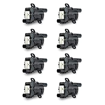 Image of Coil Packs Ignition Coil Pack Set of 8 - Fits V8 Chevy Silverado 1500, 2500, Tahoe, Suburban GMC Sierra, Savana, Yukon, XL 1500, 2500 and more - Replaces 12563293, D585, C1251, 19005218, UF262, GN10119, 10457730