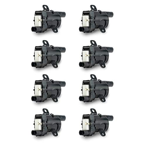 Ignition Coil Pack Set of 8 - Fits V8 Chevy Silverado 1500, 2500, Tahoe, Suburban GMC Sierra, Savana, Yukon, XL 1500, 2500 and more - Replaces 12563293, D585, C1251, 19005218, UF262, GN10119, 10457730 ()