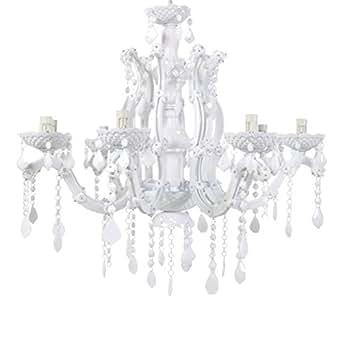 lounge-zone ROYAL PID 6717 - Lámpara de araña (8 brazos 70 x 62 cm) color blanco
