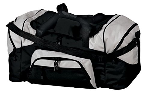 Port & Company - Color Block Sport Duffel, Black/Grey