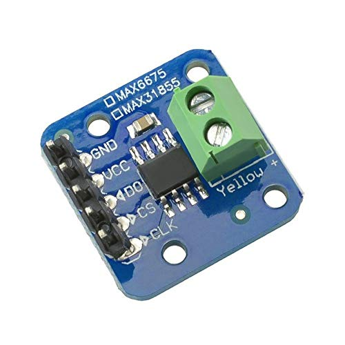 MAX31855 K Type Thermocouple Breakout Board Readable Temperature Sensor Module for Arduino -200℃ to+1350℃ Out L