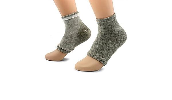 Amazon.com: eDealMax 1 par Punta abierta de la piel Mangas Exfoliante Hidratante seco Spa cómodo del talón del Gel calcetines gris claro: Health & Personal ...