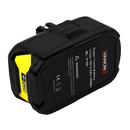 18V 6.0ah Lithium Ion Battery for Ryobi ONE+ P104 P105 P102 P103 P107 P108 P507 BPL-1815 BPL-1820G BPL18151 BPL1820 Cordless Power Tools (2-Pack) by VANON (Image #3)