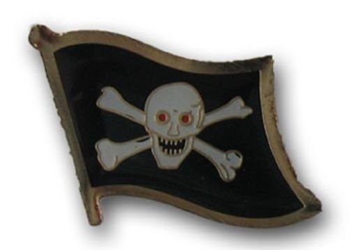 - Wholesale Pack of 50 Jolly Roger Red Eyes Pirate Flag Bike Hat Cap lapel Pin BEST material PREMIUM Vivid Color and UV Fade Resistant