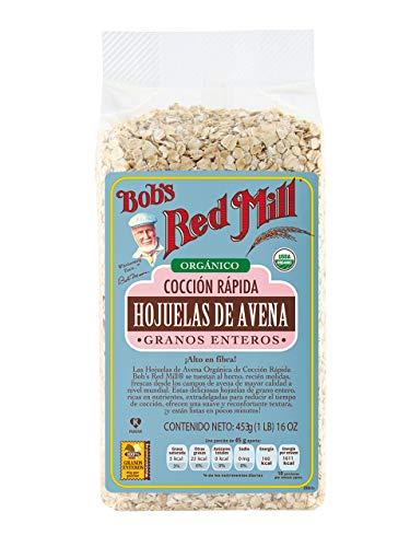Bobs Red Mill, Hojuelas De Avena Orgánica Rápida Cocción, 453 Gr.