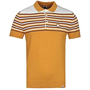 Pretty Green Men's Striped Knitted Polo From Football Attire