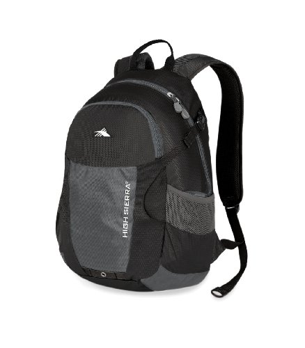 High Sierra 1830-Cubic Inches Torsion Daypack (Black, Charcoal), Outdoor Stuffs