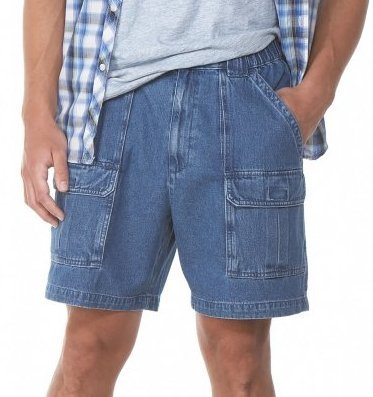 Savane Mens Eco-Start Comfort UPF 30 Hiking Shorts, Blue Denim (40) by Savane
