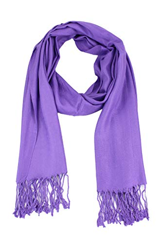 Scarf Silk Purple Label - Paskmlna Large Solid Color Pashmina Shawl Wrap Scarf 80