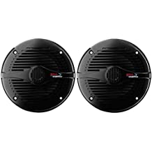 BOSS Audio MR60B 200 Watt (Per Pair), 6.5 Inch, Full Range, 2 Way Weatherproof Marine Speakers (Sold in Pairs)