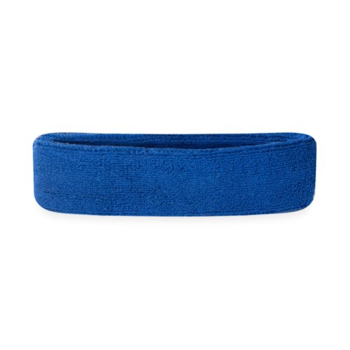 - Suddora Kids Headband - Soft Terry Cloth Sports Head Sweatband for Youth Basketball, Soccer and More (Blue)