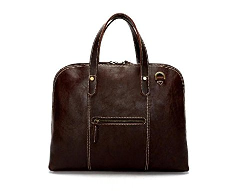 lavoro resistente pelle in SHOUTIBAO color indossabile da borsa in vintage messenger borsa Cartella pelle shopping color coffee tracolla uomo viaggio e coffee lucida g6UIqw6