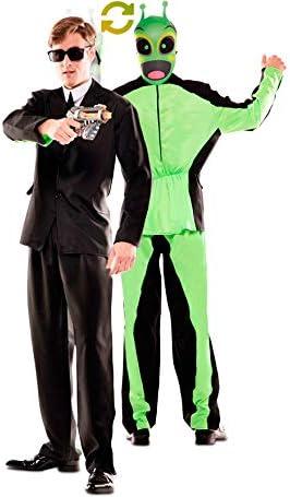 EUROCARNAVALES Disfraz Doble de Hombre de Negro y Alien para ...