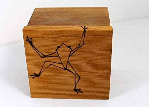 business card file box with tree frog - Business Card File Box