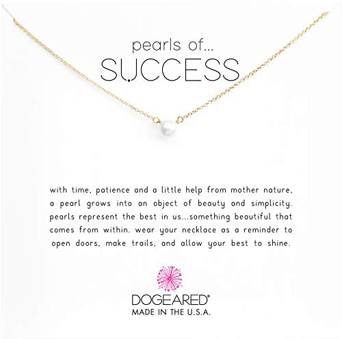 Dogeared Gold Necklace - Dogeared Women's Pearls of Success Necklace 16