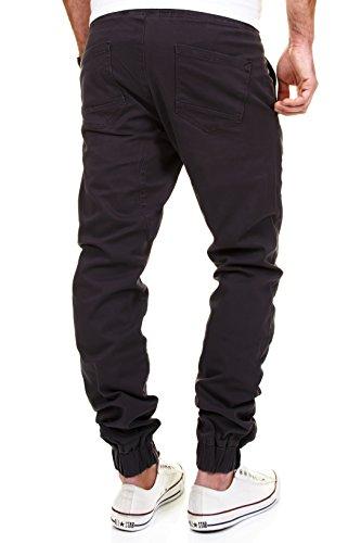 MERISH Hombres Chino-Pantalones Jogging Style casual y chic ideal para ocio y deporte Algodón Pantalones , Modell J2054 Antracita