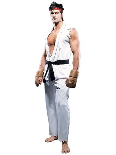 Street Ryu Fighter Costume (Paper Magic Street Fighter Ryu Costume, White,)