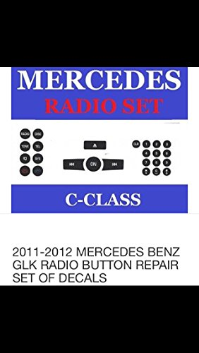 Mercedes Benz Radio Button Repair Kit For Most C-Class E-Class GLK-Class W-Class And Like Benz Vehicles