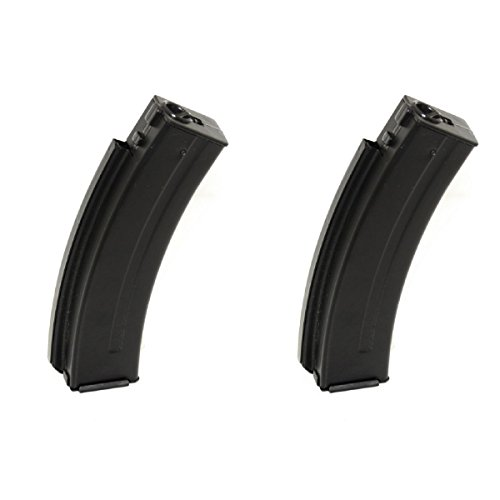 Airsoft Shooting Gear WELL 2pcs 30rd Metal Mag Magazine For R2 Vz61 Scorpion AEP SMG AEG Black