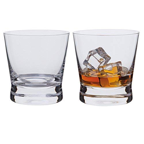 (Dartington Bar Excellence Whisky Rocks Glass, Clear, Pack Of 2)