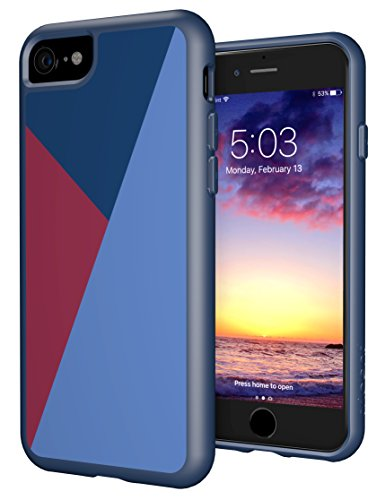 iPhone 7 Case, Trident Style Series (Vibrant Colors) Case for iPhone 7 [Drop Protection] (Wine Red - Usa Outlet Niagara