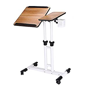 Amazon Com Azdent Tiltable Overbed Table With Wheels