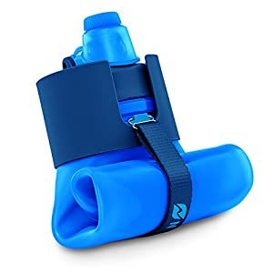 Nomader BPA Free Collapsible Sports Water Bottle - Foldable with Reusable Leak Proof Twist Cap for Travel Hiking Camping Outdoors and Gym - 22 oz (Blue)