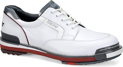 Dexter Men's SST Retro Bowling Shoes, White/Grey/Red, Size 12