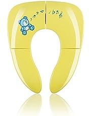 KIDUKU Faltbarer Toilettensitz für Kinder/Baby | tragbarer Reise WC-Sitz | universell passender Kindertoilettensitz | faltbar | inkl. Hygienebeutel (Pink)
