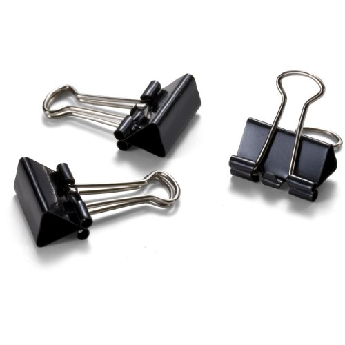 Officemate OIC Mini Binder Clips, Black, 144 Pack (12 Boxes of 1 Dozen Each) (99010) Photo #2