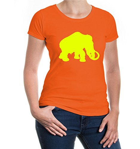 buXsbaum® Girlie T-Shirt Echte Mastodonten-Tier-Silhouette: Amazon.de:  Bekleidung