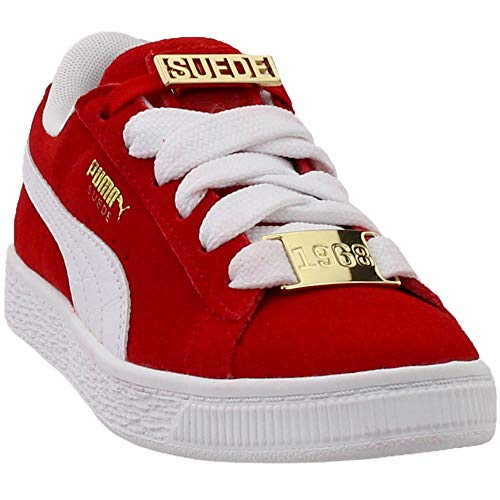 PUMA - Pre-School Suede Classic Bboy Fabulous Shoes, Size: 13 M US Little Kid, Color: Flame Scarlet/Puma White ()