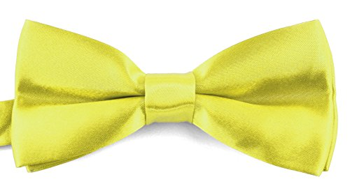 Bow Ties For Men Banded Pre Tied Formal Wedding Bowties Storage Gift Box - Yellow